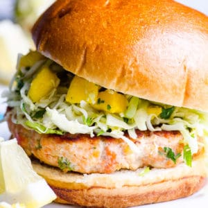 Healthy Salmon Burgers (Video)