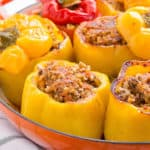 chicken brown rice stuffed bell peppers recipe