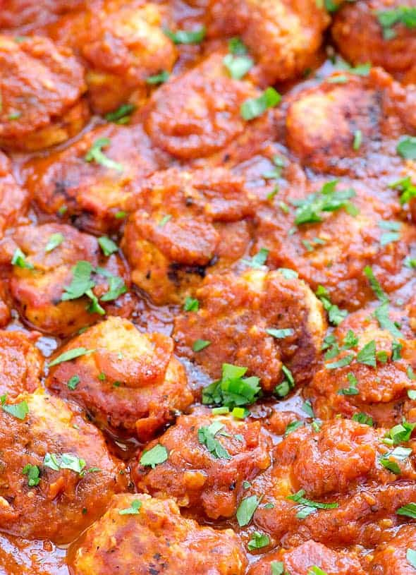 Healthy, tender and easy Turkey Meatballs Recipe cooked in jarred sauce on the stove or in a slow cooker will for sure become your family's favourite.