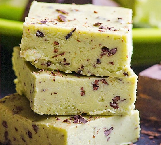 Avocado Mint Fudge Bars