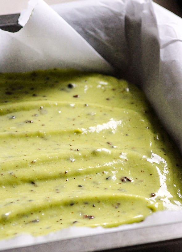 Avocado mint fudge recipe is grasshopper bars made healthy with raw avocado, banana, coconut oil, maple syrup, cacao nibs and peppermint extract. | ifoodreal.com