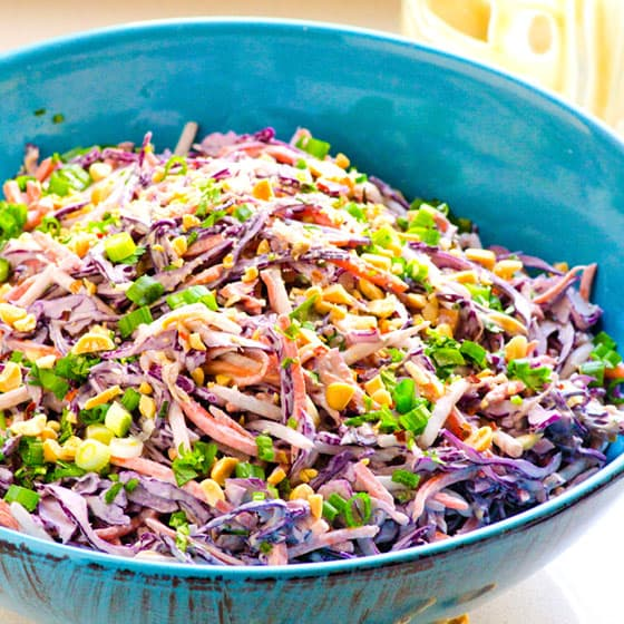 Peanut Slaw - iFOODreal | Delicious Clean Eating Recipes