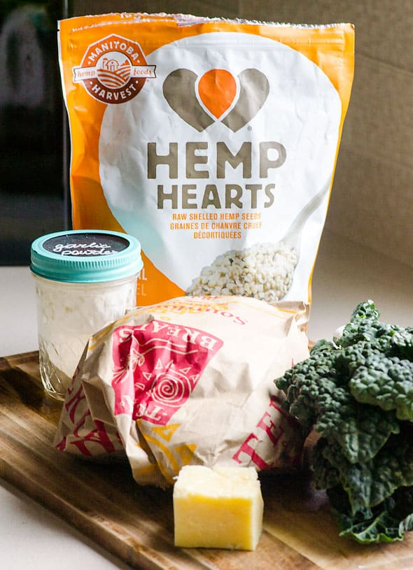 Parmesan Kale Grilled Cheese recipe means crunchy whole wheat outside and Parmesan cheesy inside with superfood kale and hemp seeds in between. Kids didn't mind.   ifoodreal.com