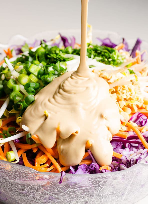 Easy Peanut Sauce is simple healthy peanut butter sauce recipe that is great for chicken, noodles, salad, stir fry and dipping. | ifoodreal.com