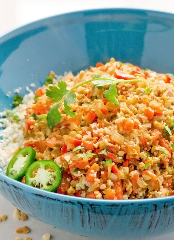 25 Cauliflower Rice Recipes in 30 Minutes is a collection of healthy riced cauliflower recipes including fried rice, with chicken, Mexican, risotto, Indian and many more. | ifoodreal.com