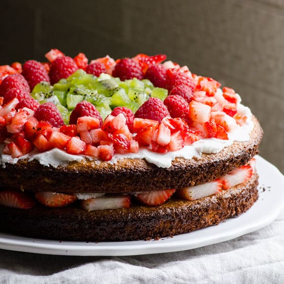 Strawberry Honey Almond Cake Recipe