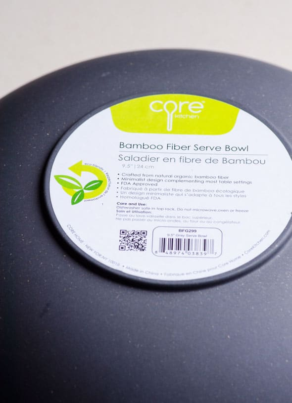 Bamboo Fiber Serve Bowl
