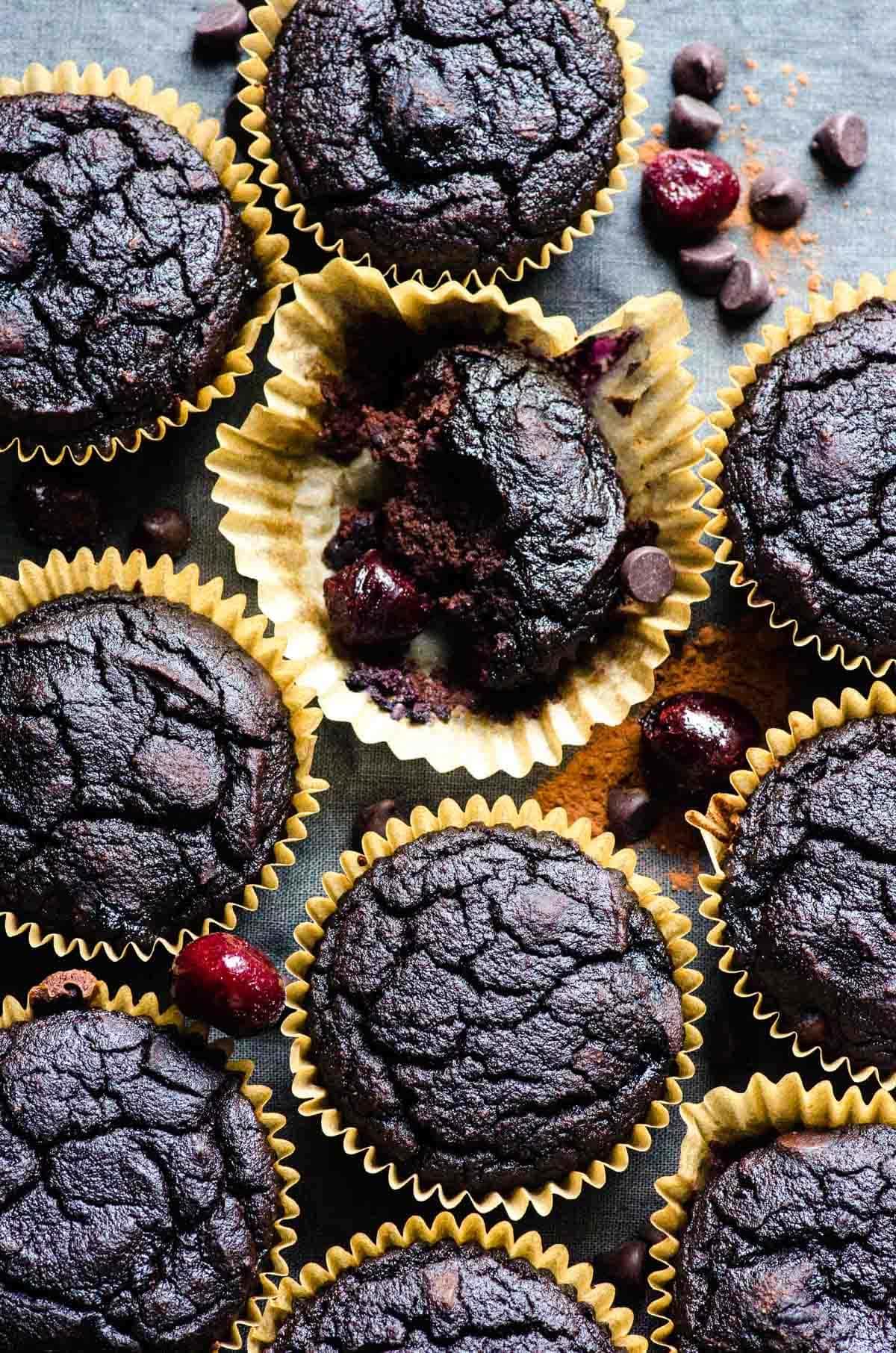 Cherry & Chocolate Coconut Flour Muffins