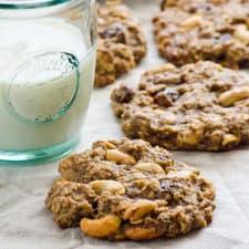 sugar free vegan trail mix oatmeal cookies