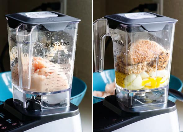 Chicken Burgers in a blender