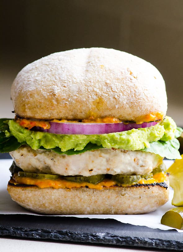 Ground Chicken Burger Recipe with juicy chicken patties like my Ukrainian grandma used to make. Grill into a burger or pan fry as small patties and serve naked with quinoa and salad. No matter what you do, it's THE BEST chicken burgers.