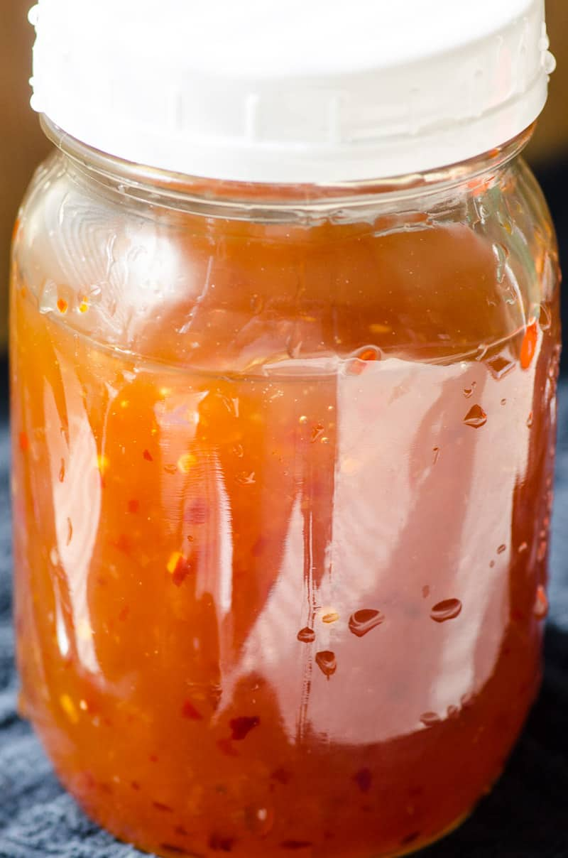 Sweet Chili Sauce in a jar