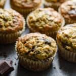 chocolate chunk banana zucchini muffins recipe