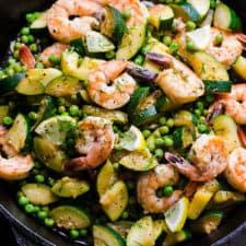 lemon dill shrimp zucchini peas