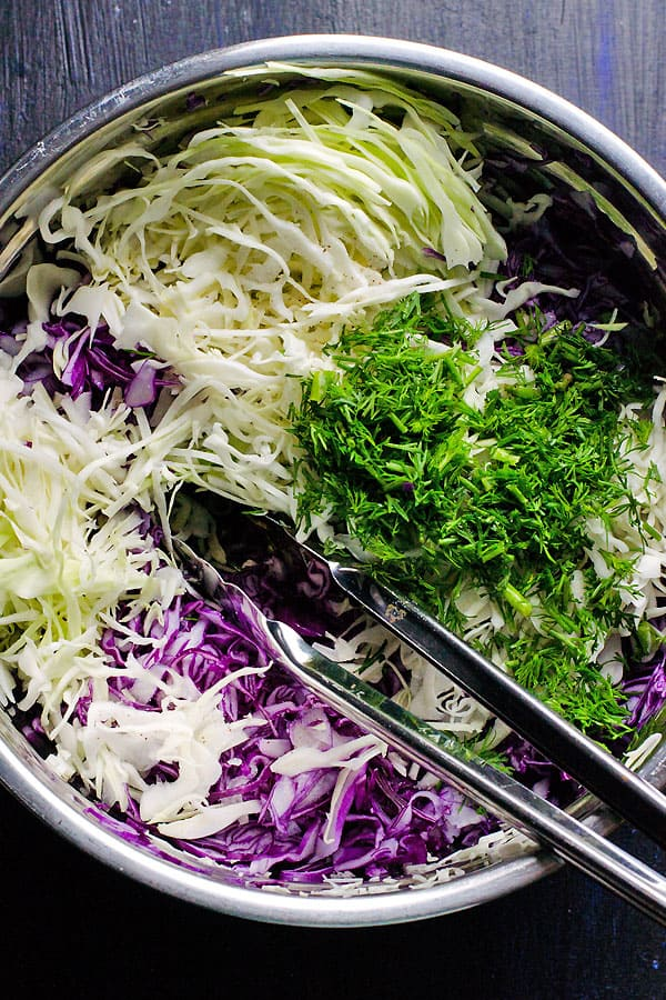 Dill Coleslaw Ingredients