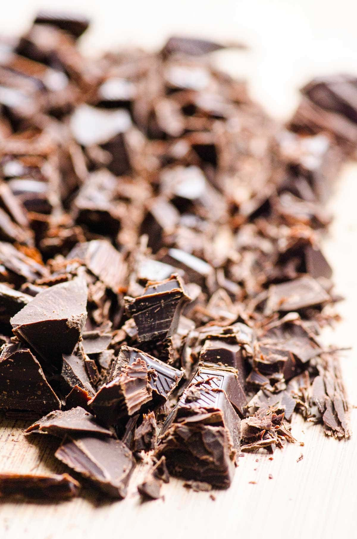 chopped dark chocolate bar