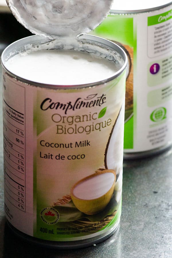 can of coconut milk