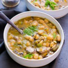 bean mushroom soup