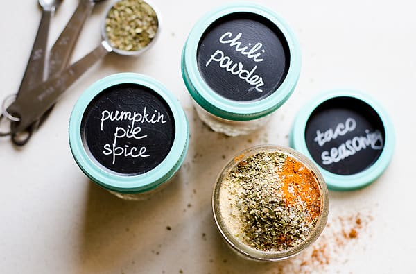 3 Must Have Homemade Spice Recipes including homemade taco seasoning, chili powder and pumpkin pie spice. | ifoodreal.com