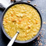 Red Lentil Vegetable Soup with Two Spices