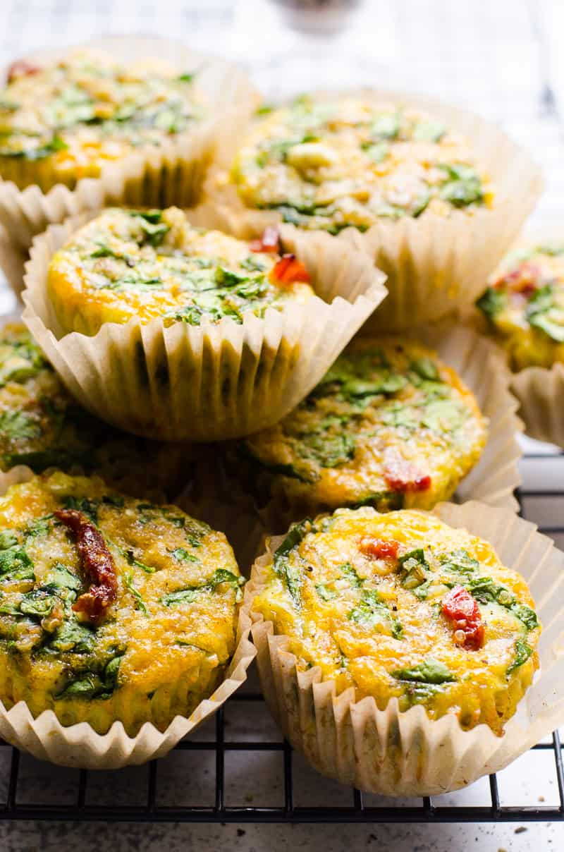 Healthy Egg Muffins Recipe that you can refrigerate or freeze, then reheat or enjoy cold as a complete breakfast on-the-go or snack.