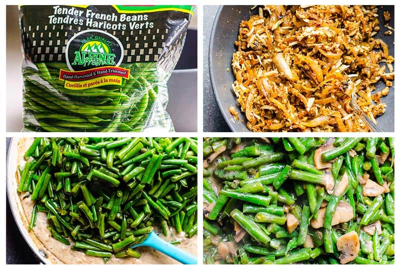 how to make Healthy Green Bean Casserole step by step