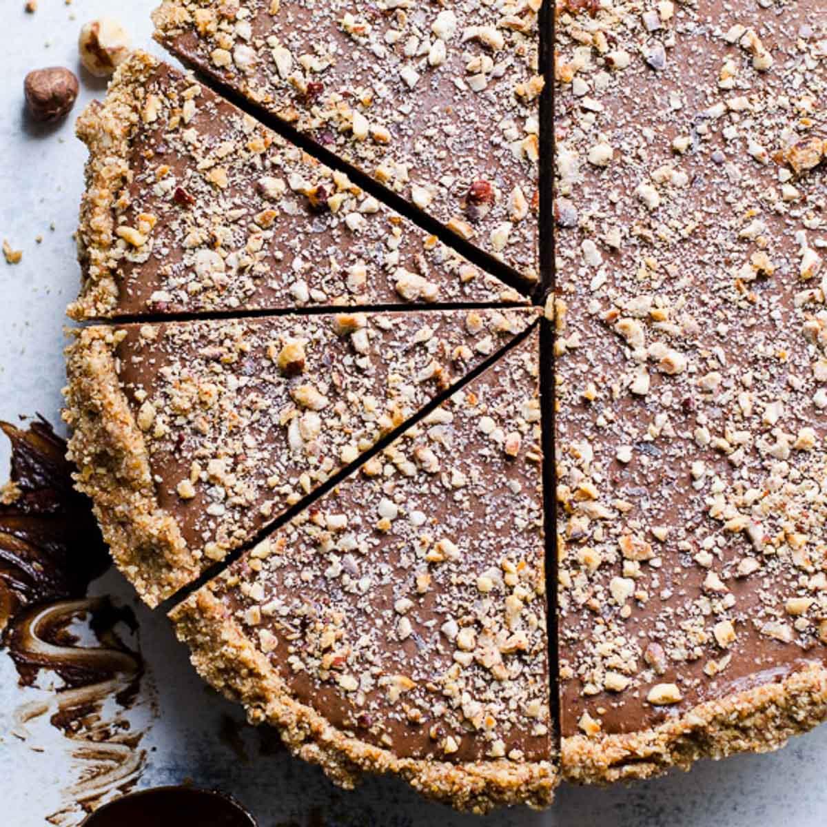 Healthy No Bake Nutella Pie