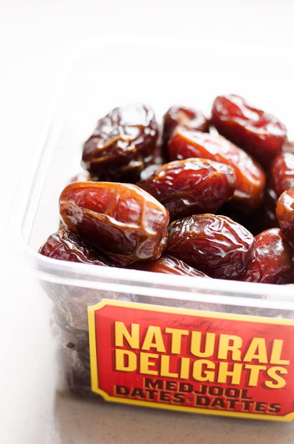 Container of medjool dates