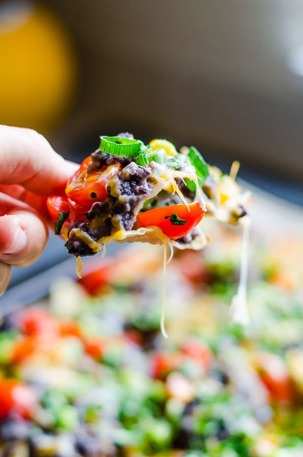 Black Bean Nachos closeup