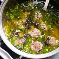 Easy Miso Soup with Meatballs