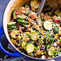 Tex Mex Rice and Beans with Zucchini