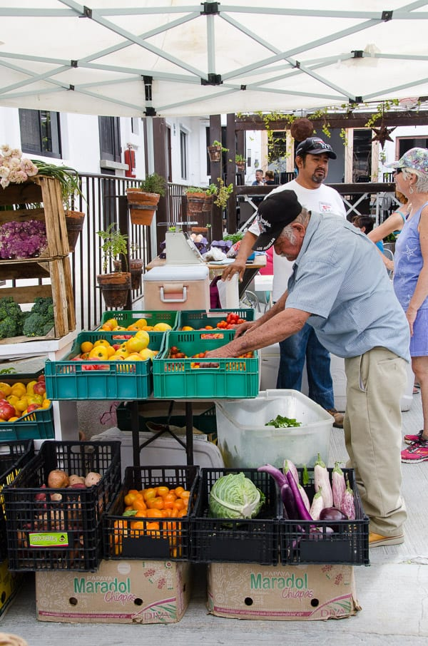 Farmers market in Cabo San Lucas offers a variety of organic produce grown by hard working Mexican farmers, as well as baked goods. Support local hard working people instead of corporations when in Cabo! |ifoodreal.com