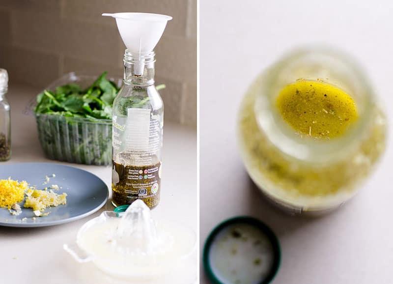 baby kale salad dressing