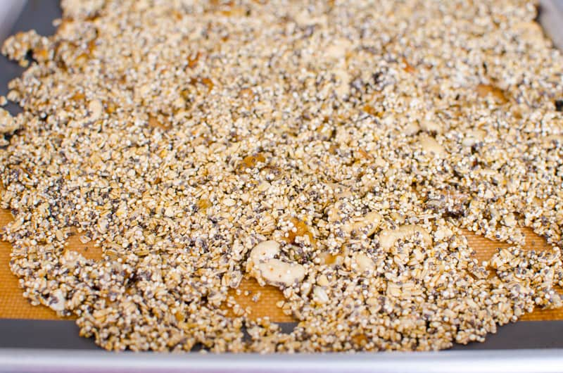 Quinoa Granola Recipe that is healthy, easy, toasted, crunchy and most importantly 6 times lower in sugar than any store-bought.