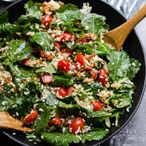 Baby Kale Salad with Feta and Tomatoes