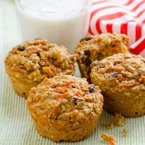 Carrot Oatmeal Muffins