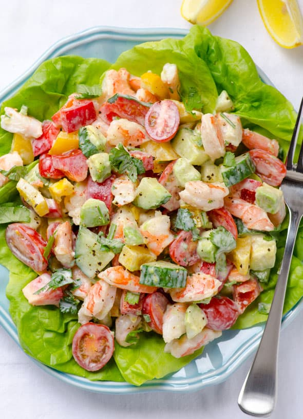 Shrimp Avocado Tomato Salad - iFOODreal - Healthy Family ...