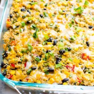 Black Bean Quinoa Casserole