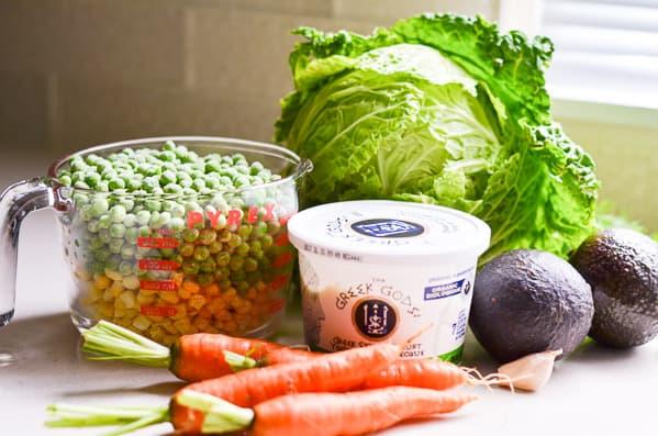 Savoy Cabbage Salad Ingredients