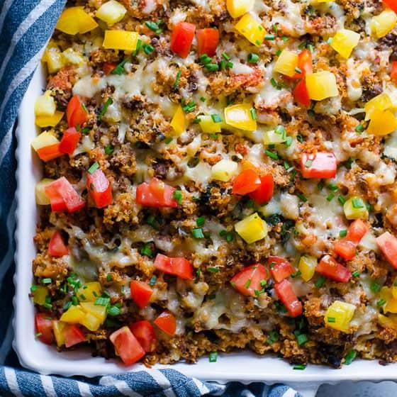 Ground Turkey Quinoa Casserole