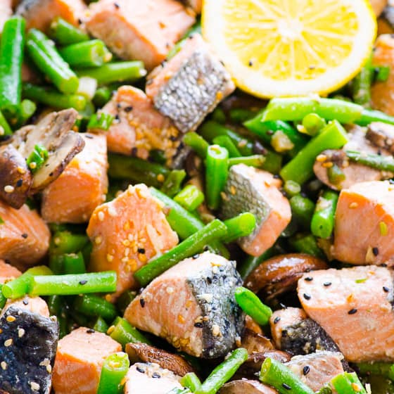Salmon Stir Fry Fish And Vegetables Ifoodreal Com
