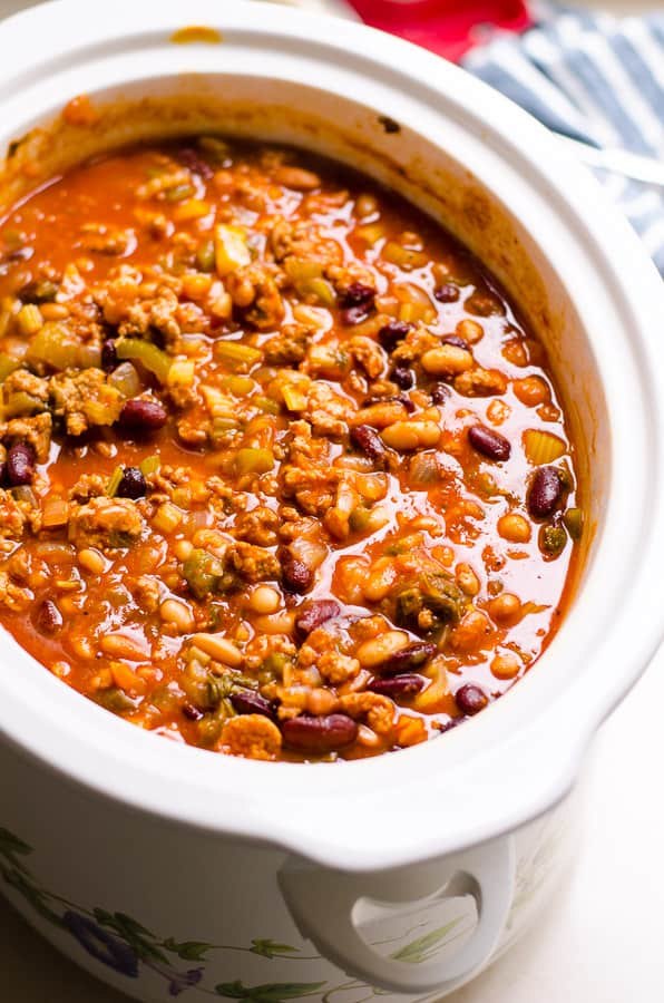 Healthy Chili Recipe From The Biggest Loser Cooked On A Stove Or In Slow Cooker