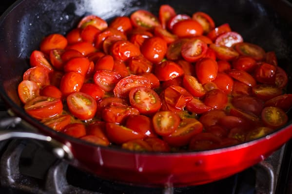 Pasta with Zucchini and Tomatoes is a quick healthy dinner with any short pasta cooked al dente, zucchini, grape or cherry tomatoes, garlic and fresh herbs.   ifoodreal.com