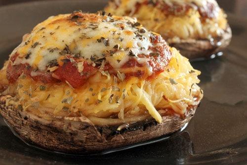 Spaghetti Squash and Portobello Mushroom Pizza