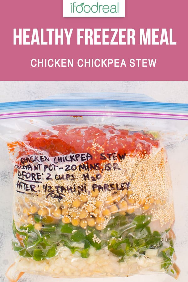 Healthy Freezer Meals for new moms, busy moms, moms on a budget. 2 hours of meal prep and you can have 5 dinners. Then cook in Instant Pot or slow cooker. That's it.