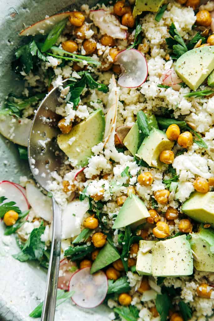 Cauliflower Rice and Peas Salad