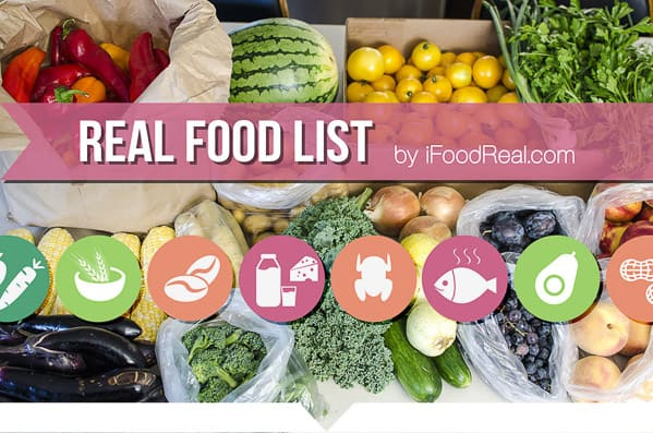 Real Food List by iFoodReal.com