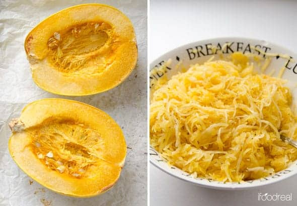 Healthy Spaghetti Squash Casserole Recipe with ground turkey and crunchy topping that Betty Crocker has got nothing on!