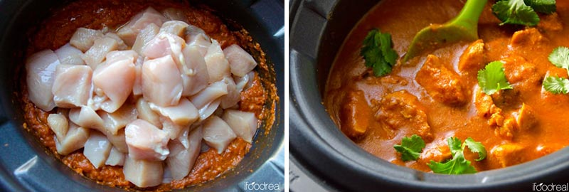 How to Make Crockpot Butter Chicken step by step