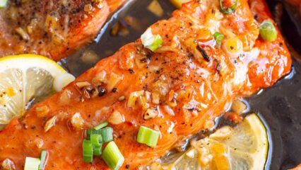 Crispy Honey Garlic Salmon (Video)